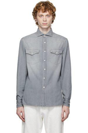 Brunello Cucinelli Men Denim - Denim Western Shirt