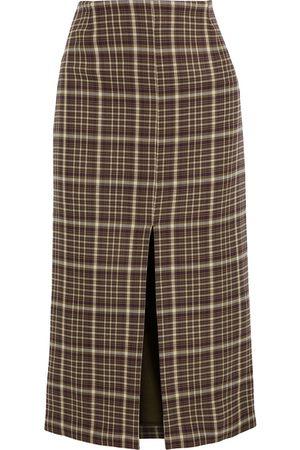 ADAM LIPPES Woman Twill Pencil Skirt Army Size 10