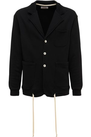 Lc23 Cotton Fleece Single Breasted Blazer