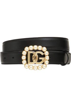Dolce & Gabbana Women Belts - 2.5cm Embellish Dg Crossed Leather Belt