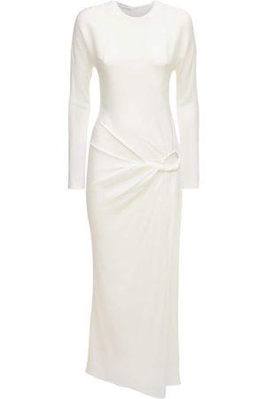 CHRISTOPHER ESBER Women Long sleeves - Rouched Viscose Long Sleeve Dress