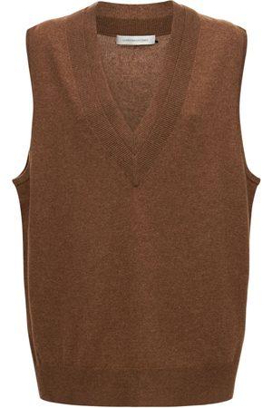 CHRISTOPHER ESBER Wool & Cashmere Knit Double Neck Vest