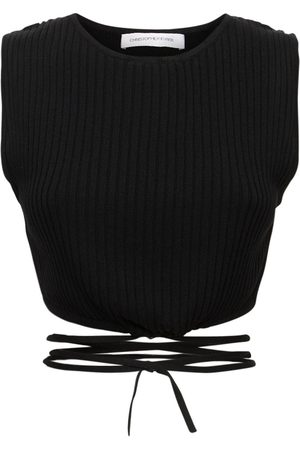 CHRISTOPHER ESBER Ribbed Knit Cropped Top