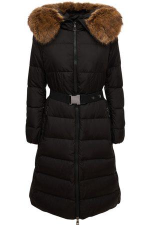 Moncler Women Coats - Boucage Long Nylon Technique Down Coat