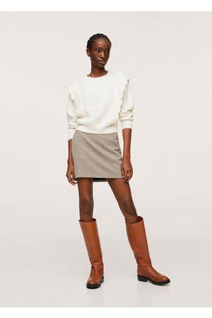 MANGO Ruffle knitted sweater