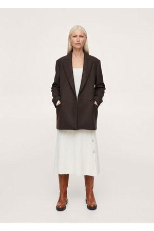 MANGO Women Blazers - Oversized woolen blazer