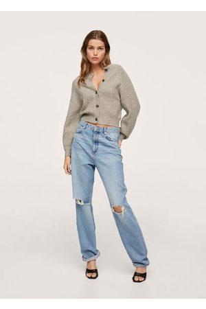 MANGO Women Cardigans - Button knit cardigan