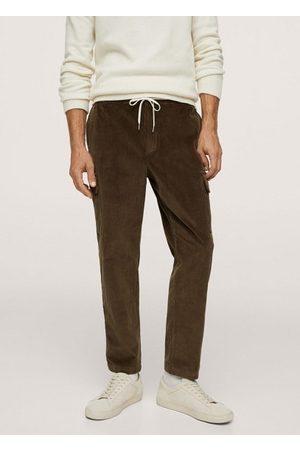 MANGO Men Cargo Pants - Corduroy cargo pants