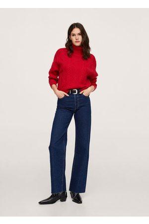 MANGO Women Cardigans - Herringbone knit sweater