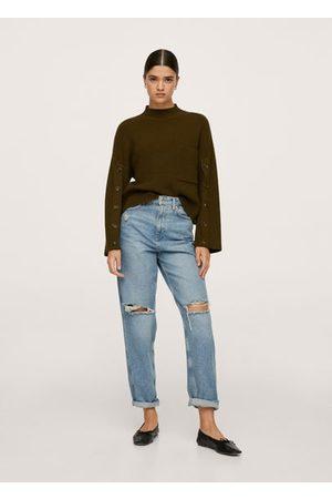 MANGO Women Cardigans - Buttoned sleeves sweater