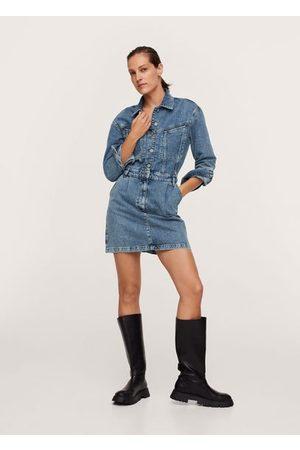 MANGO Women Jeans - Button denim dress
