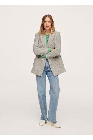 MANGO Women Blazers - Herringbone wool-blend blazer