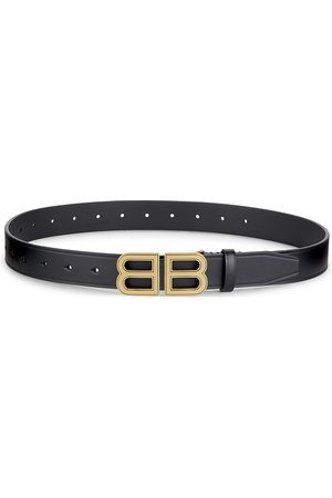 Balenciaga Women Belts - BB Hourglass Leather Belt