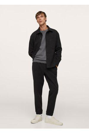 MANGO Cotton jogger-style trousers