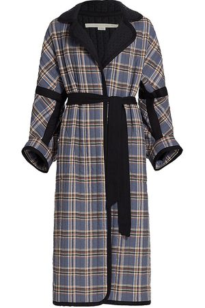Anna Mason Women Coats - Cosmos Quilted Plaid Blanket Coat