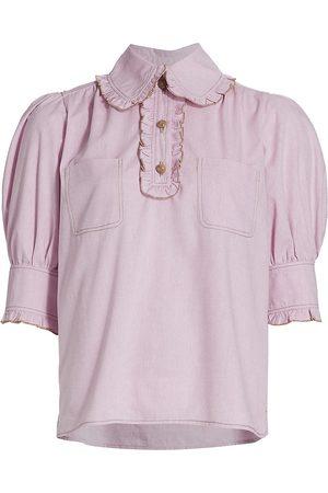 Anna Mason Women Short sleeves - Agnes Ruffled Short Sleeve Blouse