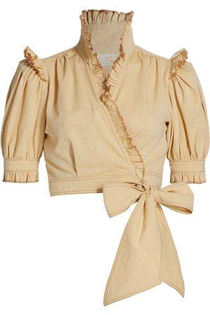 Anna Mason Women Blouses - Stella Cropped Ruffle Blouse
