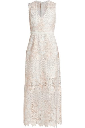 Ml Monique Lhuillier Women Midi Dresses - Lace Midi A-Line Dress