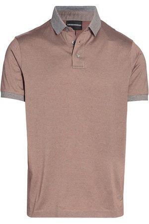 Emporio Armani Men Polo Shirts - Contrast Collar Geo Polo Shirt