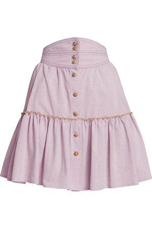 Anna Mason Women Mini Skirts - Evie Ruffled Mini Skirt