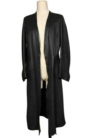 Rick Owens Leather trench coat