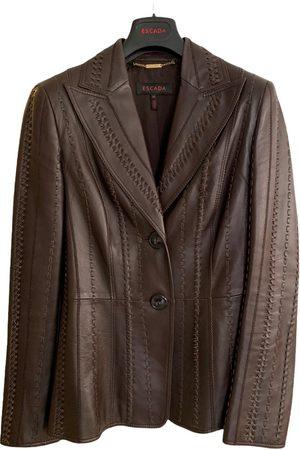 Escada Leather blazer