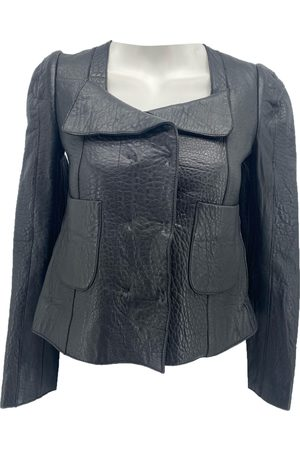 Carven Leather short vest