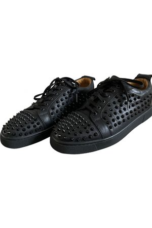 Christian Louboutin Louis junior spike leather low trainers