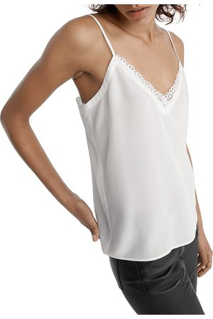The Kooples Lace Trim Cami Top