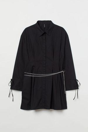 H&M + Chain-belt Shirt Dress