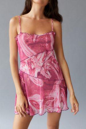 Urban Outfitters Women Casual Dresses - UO Moxie Mesh Mini Slip Dress