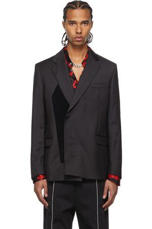 424 FAIRFAX Grey Tailored Velcro Blazer