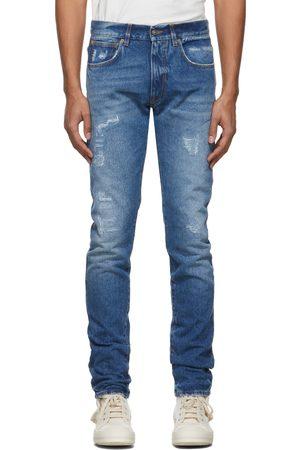424 FAIRFAX Blue Destroyed Slim Jeans