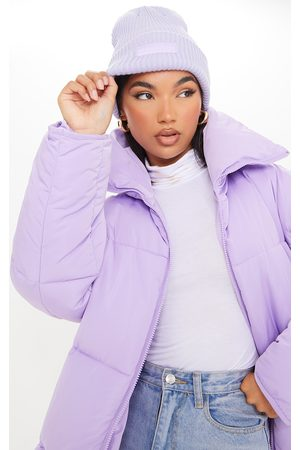 PRETTYLITTLETHING Lilac Chunky Knitted Beanie