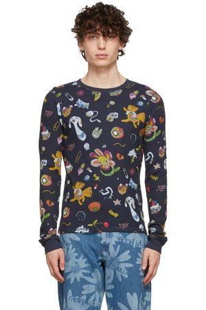 Marc Jacobs Heaven Men T-shirts - Navy Graphic Thermal T-Shirt