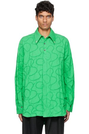 NAMESAKE Men Long sleeves - Green Viterbi Embroidered Long Sleeve Shirt