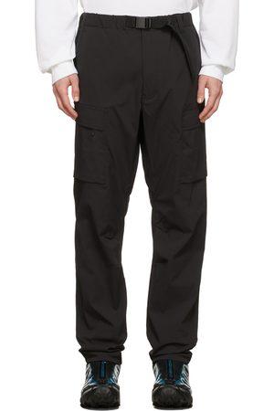 GOLDWIN Men Cargo Pants - Black Nylon Ripstop Cargo Pants