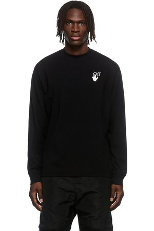 OFF-WHITE Black Hand Logo Long Sleeve T-Shirt