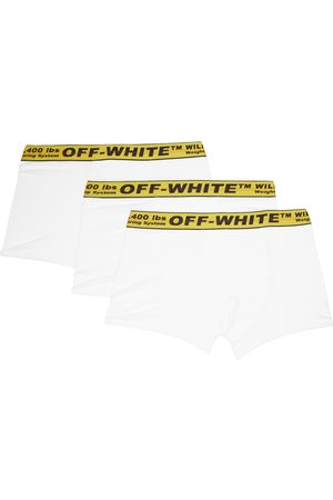 OFF-WHITE Three-Pack White & Yellow Classic Industrial Boxers