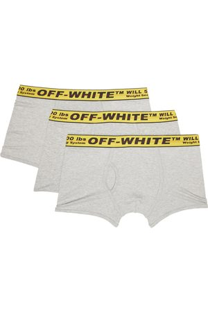 OFF-WHITE Men Boxer Shorts - Three-Pack Grey & Yellow Classic Industrial Boxers
