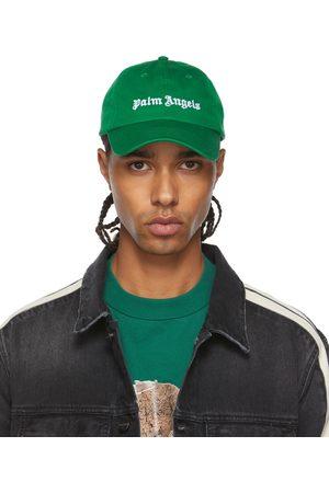 Palm Angels Men Caps - Green Logo Cap