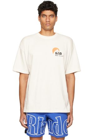 Rhude Men T-shirts - Off-White 'Moonlight Rhacer' T-Shirt