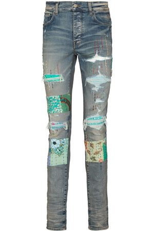 AMIRI Men Skinny - Quilted patch-detail slim-fit jeans