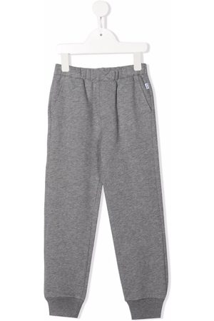 Il gufo Boys Sweatpants - Elasticated-waist cotton track pants - Grey