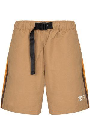 adidas Men Sports Shorts - X Human Made buckled shorts - Neutrals