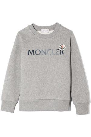 Moncler Logo-print cotton sweatshirt - Grey
