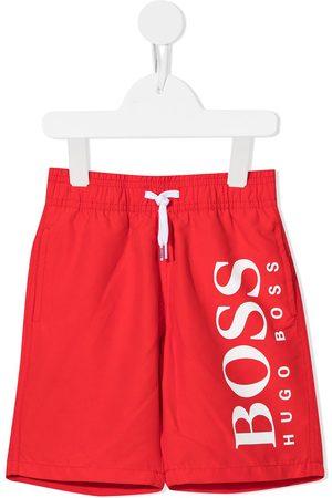 HUGO BOSS Logo-print swim shorts