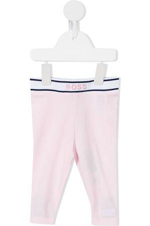 HUGO BOSS Baby Leggings - Embroidered logo stretch-cotton leggings