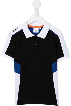 HUGO BOSS Boys Polo Shirts - Colour-block polo shirt