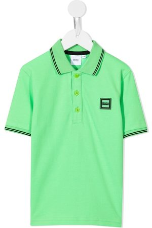 BOSS Kidswear Chest logo-patch polo shirt